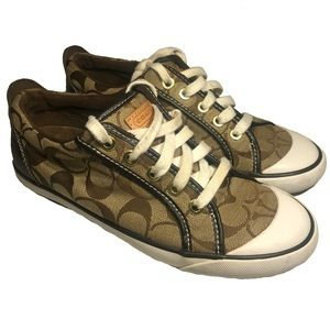Coach Barrett Sneakers With Signature Logo Size 6